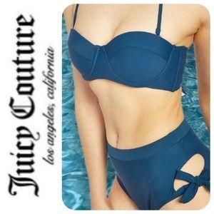 Juicy Couture Lace-Up Bandeau Bikini, XL - NWT